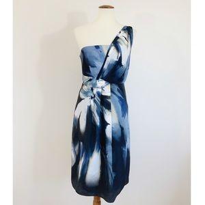 Tahari Grecian Brenley Single Shoulder Strap dress